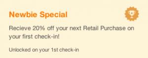 foursquare tips newbie
