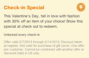 foursquare tips special