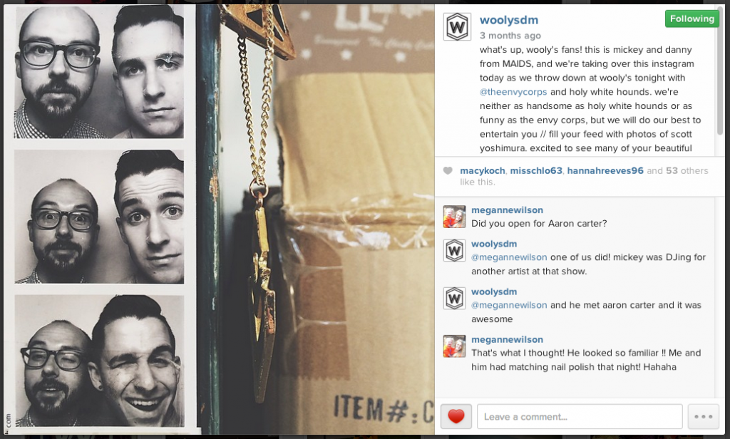 woolys instagram takeover